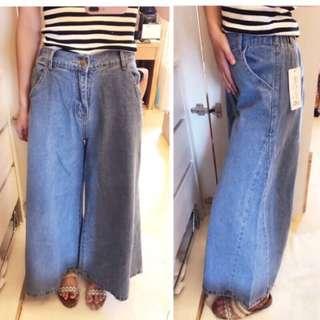 (售完)牛仔寬褲