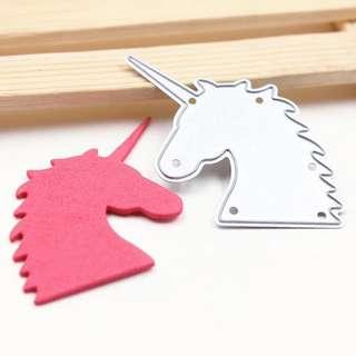 🦄 Unicorn Head Metal Cutting Die