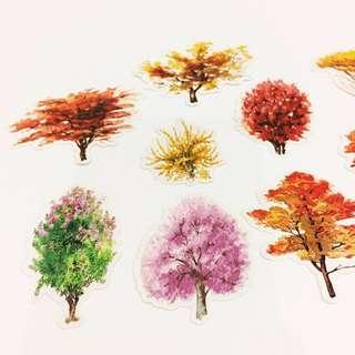Set 42 : 11 pieces of tree stickers