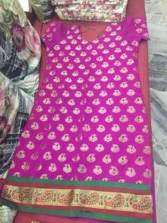 (BN) Promotion for this week-Dark Pinkish Purple Kumkum Punjabi Suit