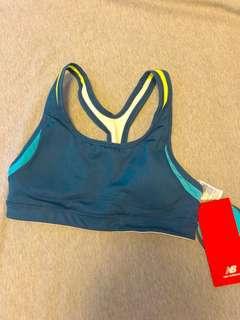 New balance 女生運動內衣 XS 全新 藍綠色