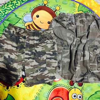Take all! Army Denim Shorts 2T and 4T