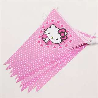 🌈 Hello Kitty Party Supplies - flag banner bunting / party deco