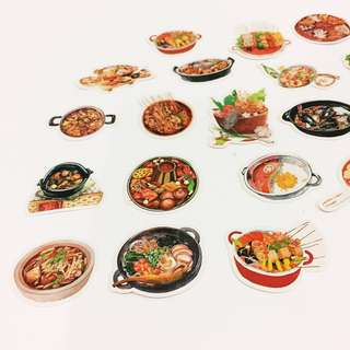 Set 46 : 22 pieces of Steamboat lover stickers