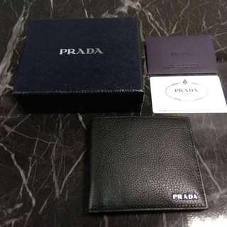 PRADA 男裝銀包💼黑色