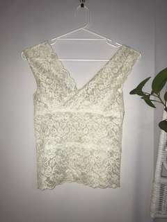 Vintage Lace See Through Top