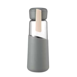 玻璃水杯子喝水瓶防摔簡約水瓶