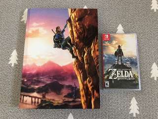 Zelda Breath of the Wild - Nintendo Switch (with Guide Book)