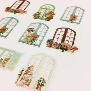 Set 47 : 8 pieces of door stickers