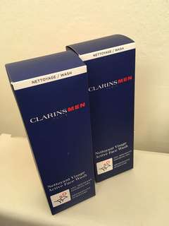 Clarins Men Active Face Wash One for $38 take both $68