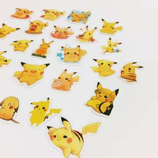 Set 51 : 24 pieces of  pikachu stickers