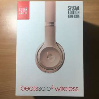 Beats Solo3 Wireless Rose Gold