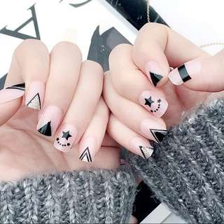 Nail art with glue