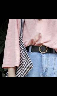 Vintage circle ring belt
