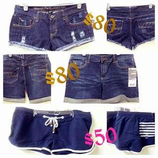 牛仔短褲/沙灘短褲