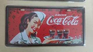 Coca cola metal plate 6'x12'