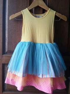Dress Kuning Multi Color Bird&Bees 6y