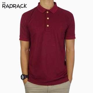 Basic Maroon Polo T-Shirt