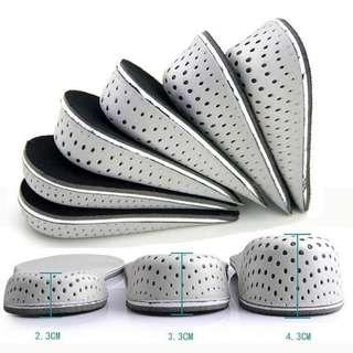 3.3cm Shoe insoles breathable heighten heel x 1