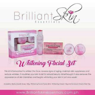 (On-hand) Brilliant Skin Whitening Facial Set