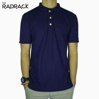 Basic Navy Blue Polo T-Shirt