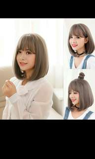 (No instock!)Preorder Air bang short bobo ladies wig* waiting time 15 days after payment is made * chat to buy to order