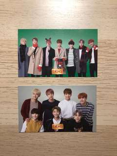 BTS bbq chicken promotion photocards