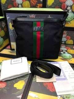 Gucci Web Nylon Crossbody Bag