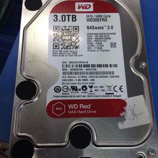 Wts wd 3tb red sata hdd $100