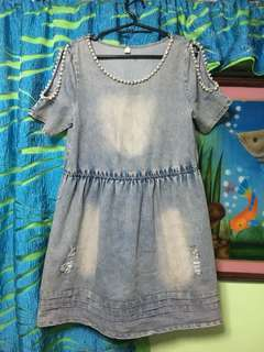 Tattered Denim Dress