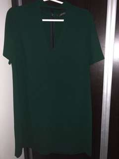 ZARA — Dark green dress