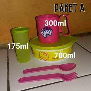 Tupperware paket tupperware mangkok gelas set paket toples lebaran tupperware murah