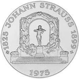 100 Schilling Johann Strauss Silver Coin
