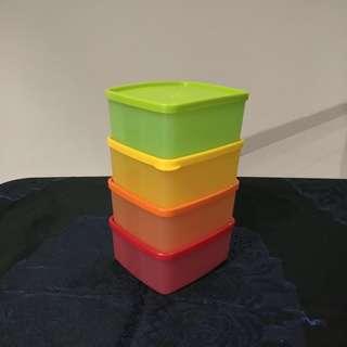 Tupperware kotak makan 4 pieces