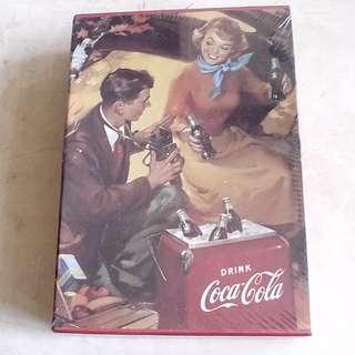 全新未用過90年代產品可口可樂相薄一盒5本 (議價不覆)