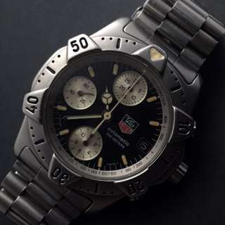 FOR SALE- 38mm Vintage Tag Heuer 200m Automatic Diver Chrono 'Starfish'