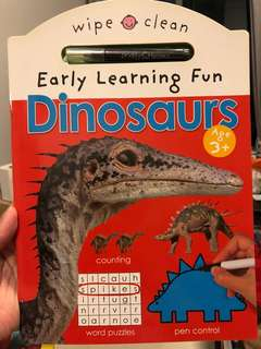 Dinosaur early learning book