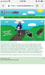 Buddyrider Dog Seat Bicycle (not basket)