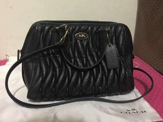 Coach New York Crossbody Leather Black