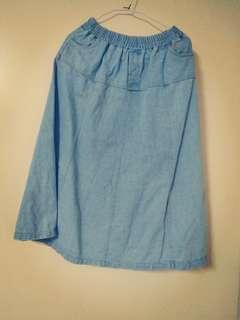 🚚 淺藍牛仔裙