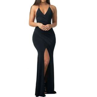 Hollow Out Formal Dress Maxi