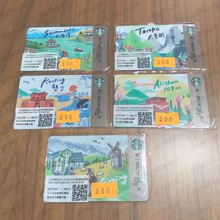 Starbucks Taiwan Cards