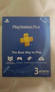 Sony playstation plus 3 months subscription (SEA Region)