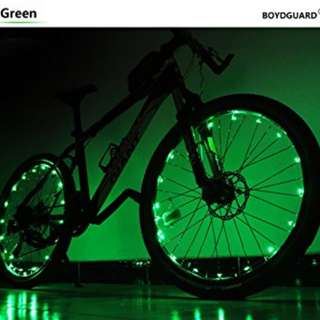 362.Bodyguard Bike Wheel Lights - Auto Open and Close - Ultra Bright 20 LED Bicycle Spoke Light,Colorful Bicycle Tire Accessories (1 pack) - Waterproof
