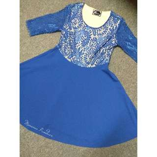 🆕Blue Lace Skater Dress
