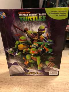Ninja Turtle story book , playmat & figurines - my busy book