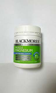 NEW and sealed Blackmores exercise muscle magnesium 150g powder