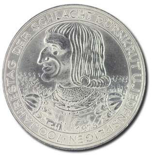700th Anniversary of the Battle of Durnkrut and Jedenspeigen silver coin