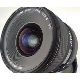 Sigma 17-35mm F2.8-4 EX DG HSM For Nikon 公 (全幅可用) (NL037)