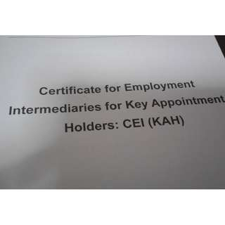 Certificate for Employment Intermediaries CEI
